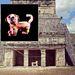 Az 1968-as mexikói olimpia kabalája egy vörös jaguár volt (El Jaguar Rojo de Chichen-Itza), amit a chichén itzai maja piramisban talált trónról mintáztak.