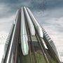 Mi lesz, ha keresztezzük a liftet a gyorsvonattal? Egy felhőkarcoló, amin föl-le száguldozhatnak a vonatok. A tervezők szerint a túlnépesedésre a nagyon magas épületek nyújthatnak megoldást - viszont a közlekedési viszonyokat is ehhez kell igazítani.