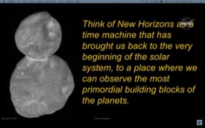 A kutatók szerint az Ultima Thule olyan, mint egy időgép, aminek segítségével rengeteget meg lehet tudni Naprendszerünk születéséről, a bolygókat alkotó építőkövekről.