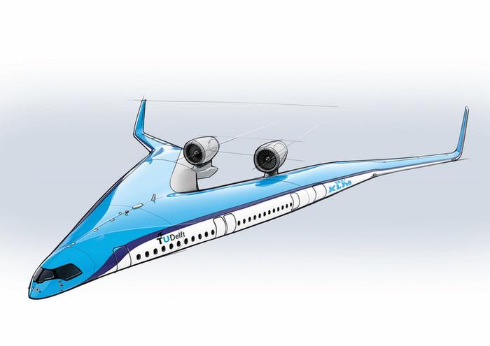 Futurisztikus, V alakú repülő mögé állt be a KLM - 3