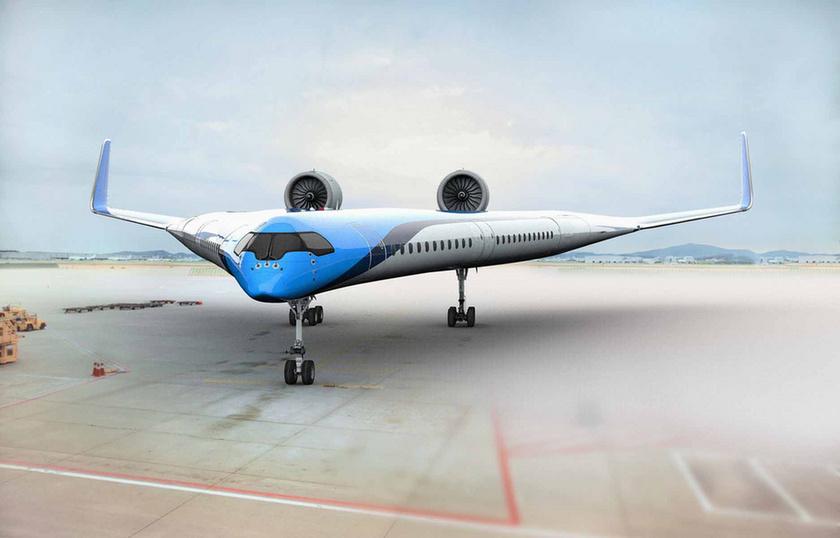 Futurisztikus, V alakú repülő mögé állt be a KLM - 4