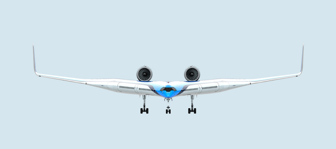 Futurisztikus, V alakú repülő mögé állt be a KLM - 2
