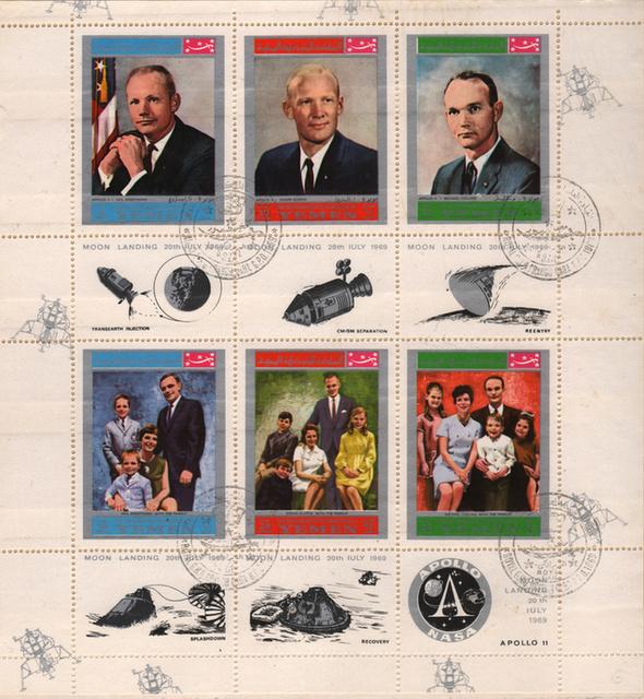 Bélyegeken is ünnepelte a világ az Apollo-11 hőseit - 4