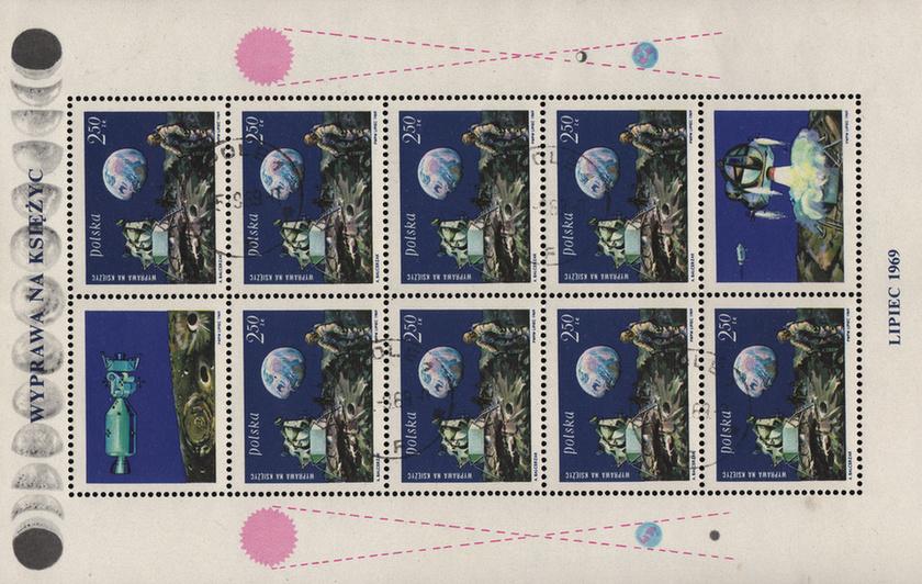 Bélyegeken is ünnepelte a világ az Apollo-11 hőseit - 10