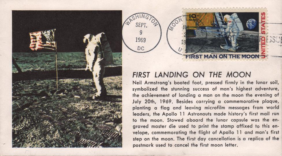 Bélyegeken is ünnepelte a világ az Apollo-11 hőseit - 3