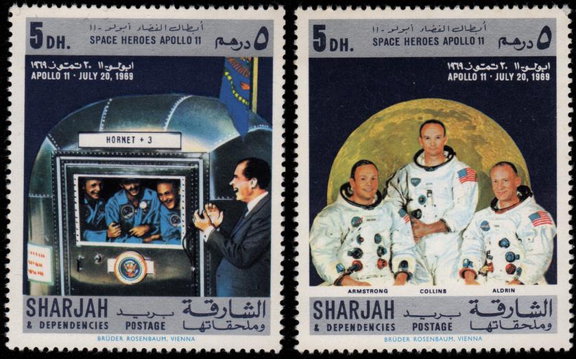 Bélyegeken is ünnepelte a világ az Apollo-11 hőseit - 9