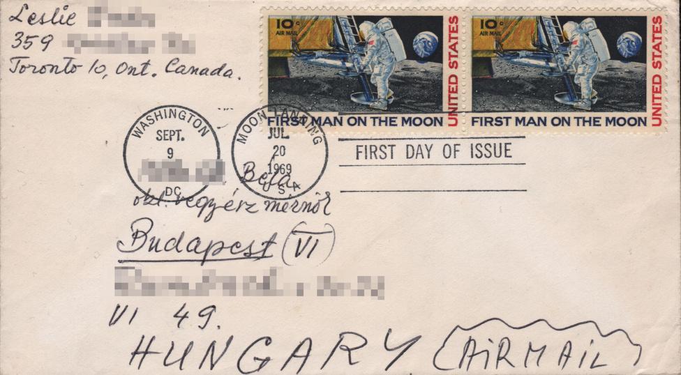 Bélyegeken is ünnepelte a világ az Apollo-11 hőseit - 2