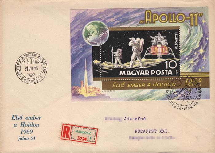 Bélyegeken is ünnepelte a világ az Apollo-11 hőseit - 1