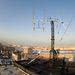 A Masat-1 földi állomásának antennarendszere a Budapesti Műszaki és Gazdaságtudományi Egyetem E épületének tetején.