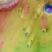 Az átszínezett képen a lilás színű részek mutatják a mélyebben fekvő területeket, amit víz boríthatott.
