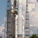 Az Európai Űrügynökség saját fejlesztésű igáslova, az Ariane-5 rakéta.