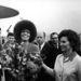 Angela Davis, a hippikorszak emblematikus amerikai képviselője és Tyereskova 1972 augusztusában a Szovjetunióban.