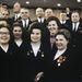 Tyereskova (középen) a Kommunista Párt 24. kongresszusán, a többi delegált között, 1971. március 30-án.