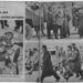 Balra: egy AVH-s ügynök holtteste, amire a forradalmárok szovjet propagandaplakátokat szórtak. Derekán a jegyzetfüzete látszódik. Jobbra fenn: a parlament épületét védő szovjet katonák. Jobbra lenn: egy AVH-s tisztet kísérnek kihallgatásra forradalmárok.