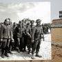 Német hadifoglyok a Juno-parton, Bernires sur Mer közelében.