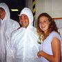 Thad Roberts és társai a holdkőzetlaborban.