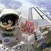 1984. november 14. STS-51-A: Dale A. Gardner űrhajós tréfálkozik, miután társával, Joseph P. Allennel - Gardner sisakján tükröződik alakja - sikeresen befogtak két meghibásodott műholdat (jobb alsó sarokban).