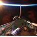 2011. március 7. Orbitális napfelkelte a Discovery nyitott raktere mögött.