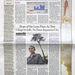 Keskeny csíkban tör az űrbe az Atlantis a Wall Street Journal címlapján.