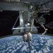 2011. július 18. Az Atlantis készen áll a hazaútra. A képet Mike Fossum, az ISS egyik amerikai űrhajósa készítette, a szétválás előtti órákban.