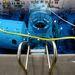 A Nemzetközi Űrállomás 1:1 méretarányú vízalatti modellje.