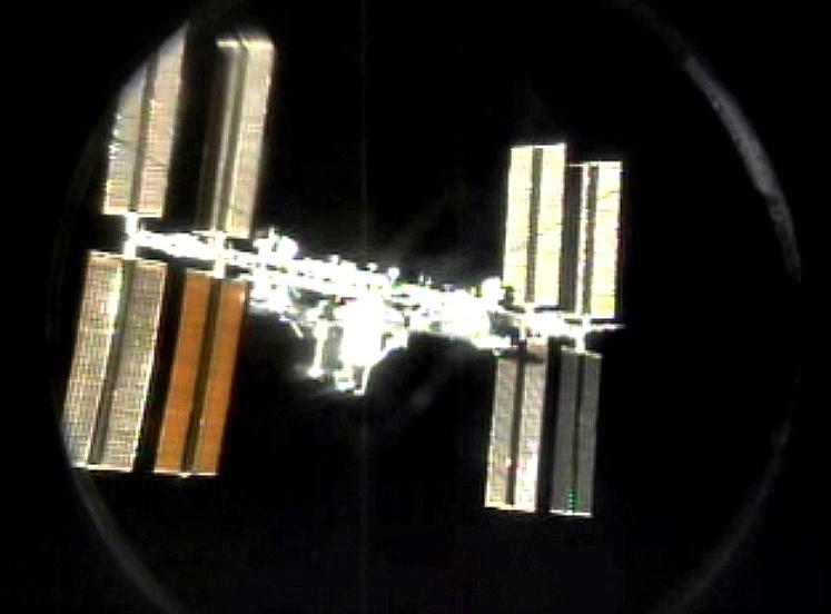 Az Atlantis az ISS-ről nézve.